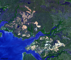 The world largest bauxite mine found near Weipa, Queensland, Australia. Original from NASA. Digitally enhanced by rawpixel. (Free Public Domain Illustrations by rawpixel) Tags: 1955 1960 aluminium aluminum australia bauxite capeyorkpeninsula climatechange earth environment environmentalconservation geography globalwarming hills mine mining mountain name nasa nature ocean pdnasa publicdomain queensland satelliteimagery sea terra town water weipa