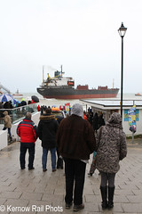 Kuzma Minin - 5 (Kernow Rail Phots) Tags: kuzmaminin russian 16000 ton cargo ship freighter falmouth cornwall kernow 18122018 gales rain heavyseas ap tugs ships boats people cafe