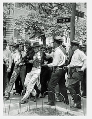Bonus Army radical faction leader arrested: 1932 (Washington Area Spark) Tags: john pace workers exservcemen's league communist party bonus expeditionary force bef army march demonstration lobby rally encampment police arrest radical 1932