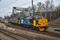 37403 + 37423 - Norwich - 27/12/18. (TRphotography04) Tags: direct rail services drs 37423 spirit lakes 37403 isle mull arrive norwich with 2p17 1117 great yarmouth