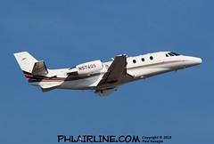 N574QS (PHLAIRLINE.COM) Tags: philadelphiainternationalairport spotter kphl phl bizjet spotting airline generalaviation planes flight airlines philly