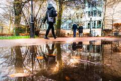 Reflection (Maria Eklind) Tags: malmöstadsbiblioteket malmö puddle reflection spegling city library puddlereflection regemenstgatan sweden skånelän sverige se