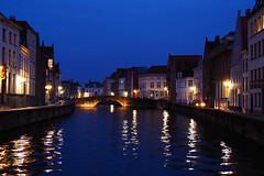 Bruges la nuit (atnag) Tags: bruges brugge belgium belgique night nuit river rivière eau water bluehour heurebleue