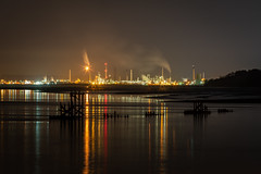 Stanlow Night: 2nd January 2019 (Rob Pitt) Tags: eastham ferry stanlow refinery river mersey canon 70200 f4 l sony a7rii skyline sky water sea night
