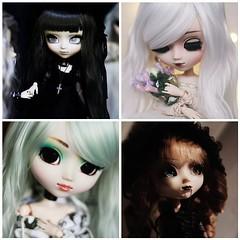 Flickr 2018 (hauntiing) Tags: mosaic pullip doll dolls toy toys laura pulliplaura blanche pullipblanche prunella pullipprunella noir pullipnoir pullips dollphotography toyphotography flickr flickrtop4 2018