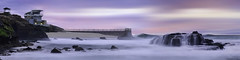 Childrens Pool Pano (Lee Sie) Tags: lajolla childrenspool lifeguard tower seascape sunset water pacific ocean beach coastal california west sky clouds sea marine