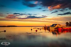 Blaue Stunde auf Schwedisch (Betrachtungsweisen) Tags: 2018 sonnenuntergang eos77d rafshagsudden schweden juli blaue stunde blue hour sverige langzeitbelichtung longexposure smaland landscape kalmarcamping