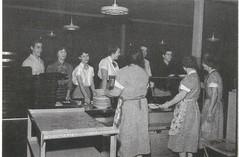 Bayless Lunchline, 1954-55 (STUDIOZ7) Tags: 1950s fifties 50s school students teens teenagers women girls boys cafeteria missouri stlouis mo