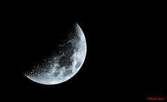 Waxing Crescent  45% visibilty on Sunday 13th Jan 2019 (red.richard) Tags: moon space sky night waxing crescent nikon d800 redrichard