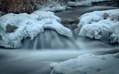 River Ice (Elainе) Tags: bishop easternsierras ice river winter slowshutter
