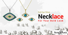 Evil Eye Silver Necklace For Your Bold Look (incsilverpalace) Tags: buy silver jewelry wholesale price best offer