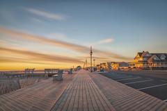 Waiting for Summer (Brentg33) Tags: ifttt 500px landscape landscapes beach sunset sunrise boardwalk no people light sony alpha long exposure lines sky clouds tranquil glow sun new jersey nj belmar