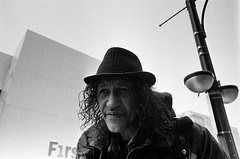 "R.I.P. Michael ""Curly"" Fanning. January 19 2019 (Xsbmrnr (Please read profile before ""following"") Tags: blackandwhite bandw blazinal downtown documentary 35mm 35mmfilm film filmphotography hamilton hamiltonontario hc110 kodak olympusom1 olympus om1 people photojournalism poverty photoessay street streetphotography streetpeople streetportrait trix trix400 urban urbanphotography zuiko zuiko28mm"