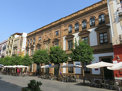 Cafés, Calle San Jacinto, Triana, Seville, Spain (geoff-inOz) Tags: triana café seville spain building andalusia architecture heritage food drink