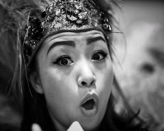 Ohayo gozaimasu! (gro57074@bigpond.net.au) Tags: ohayogozaimasu f14 105mmf14 artseries sigma d850 nikon 2019 february shinjuku robotrestaurant face japanese japan woman portrait monotone monochrome mono bw blackwhite guyclift
