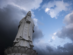 Da Nang 10 (arsamie) Tags: danang vietnam statue tall lady buddha religion faith ling ung chua pagoda sky clouds skyporn cloudporn serenity calm buddhism prayer asia coast center blue white daark storm