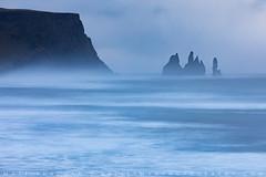 Reynisdrangar Meditation (Matt Thalman - Valley Man Photography) Tags: atlanticocean iceland reynisdrangar reynisfjall southernregion vik vík víkímýrdal blue longexposure ocean rock seastack stone water wave waves