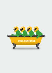 Cool Runnings (Movie Poster Boy) Tags: cool runnings movie film illustration jamaica jamaican bobsleigh bobsled sleigh olympics olympic john candy coolrunnings coolrunningsmovie coolrunningsfilm coolrunningsposter coolrunningsillustration coolrunningspicture coolrunningscomedy jamaicanbobsleighteam winterolympics johncandy westindies bath bathtub humor humour fun funny comedy olympicgames winterolympicgames skeleton luge green gold black alternativemovieposter