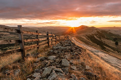 Path to the sun (Through_Urizen) Tags: category derbyshire england hdr landscape mamtor places sunrise greatridge peakdistrict path fence fencepost rocks pavement hills grass dawn morning morningsun sunrays sunstar clouds sky landscapephotography travelphotography travel greatbritain uk unitedkingdom canon70d sigma1020mm canon outdoor valley
