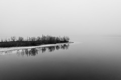 Foggy afternoon (teamnullvier) Tags: lake see moody foggy fog nebel nature blackwhite schwarzweiss d750
