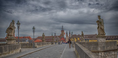The old Main bridge (Alte Mainbrücke) (Only photoshoot, don't be afraid) Tags: altemainbrücke würzburg main bridge medieval statue nikon tamron architecture outside outdoor outdoors city stad lens camera d750 river germany deutschland