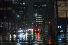Rainy Winter Night (A Great Capture) Tags: winter rain agreatcapture agc wwwagreatcapturecom adjm ash2276 ashleylduffus ald mobilejay jamesmitchell toronto on ontario canada canadian photographer northamerica l'hiver 2017 city downtown lights urban night dark nighttime cityscape urbanscape eos digital dslr lens canon 70d wet water agua eau reflection mirror glass reflections outdoor outdoors outside overcast rainyday rainy cloudy streetphotography streetscape photography streetphoto street calle silhouette silueta darkness nocturnal illuminate lighting walk walking people crossing cars traffic