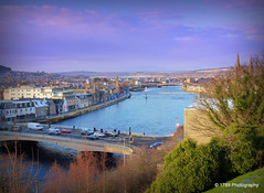 River Ness (Rollingstone1) Tags: riverness scotland bridge bridges cars buildings city trees sky clouds colour vivid landscape scenery grass sea water road tree