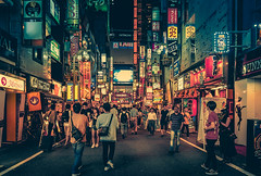 Colors of the Night (Anthonypresley1) Tags: street night japan city japanese asia travel asian architecture modern scene cityscape business downtown tokyo district view urban road tourism evening landmark light famous metropolis people tourist traditional twilight building town background skyline landscape tower illumination neon kyoto lights lamp scenic scenery culture shop shrine traffic walk osaka sky nightlife anthony presley anthonypresley