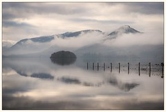 Clearing Off (Nicks-2017) Tags: keswick england unitedkingdom gb derwentwater cumbria lakedistrict lakedistrictnationalpark thelakes northwest catbells mountains fells lake island reflections misty moody atmospheric landscape nature sky clouds trees forest serene peaceful canon eos 6dmkii outside outdoors blue winter notbw
