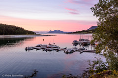 Boats in soft evening light (Petra Schneider photography) Tags: sandhornøya norge norway nordnorwegen northernnorway eveninglight eveningmood sunset boats pinklight sky sea dusk