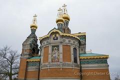 Russische Kirche auf der Mathildenhöhe in Darmstadt