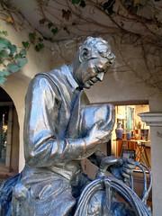 Giving Thanks (twm1340) Tags: tlaquepaque shopping center sedona az arizona upscale artist deborah copenhaver fellows statue sculpture western cowboy horse