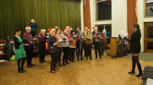 DSCN2047c Ealing Symphony Orchestra Christmas Concert rehearsal. 15th December 2018. Ealing Green Church, west London