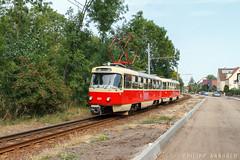 TATRA 931+101 Merseburg Süd (IMG_7857-2) (philipp138) Tags: beiwagenzug t4d b4d ckd tatra überlandbahn