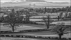 A Distanced Severn Bridge (E.Kilmartin) Tags: bw landscape severnbridge severncrossing riversevern outdoors trees sky sunset pentax k5
