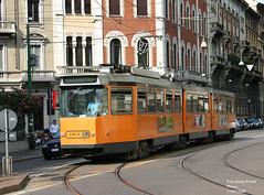 Milano 4906 (pretsend (jpretel)) Tags: milano atm tranvia articulado fiat 4900