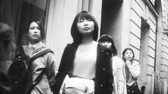 Untitled (Cécile Charron) Tags: paris france blackandwhite bnw bw blackwhite noiretblanc nb candid streetphotography streetphoto street women woman face olympus 25mm 50mm