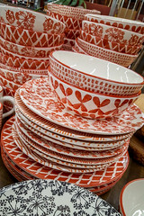 A Stack of Dishes (Karol A Olson) Tags: dishes plates bowls worldmarket shopping pattern 119picturesin2019 35dishesplates