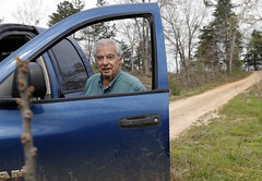 Curtis drives around the family property. He moved to this property when he was four-years-old, in 1948, and plans to live here the rest of his life.