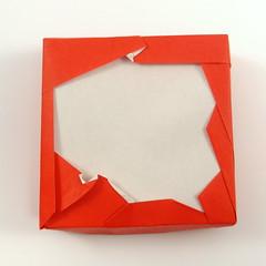 Origami Free-form Box: Poland (Michał Kosmulski) Tags: origami box poland polish map outline silhouette niepodległa 11listopada stolatpolsko 100lecieniepodleglosci 100latniepodleglosci poland100 michałkosmulski kamipaper red white polska mapapolski