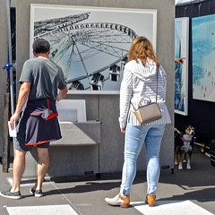 One Afternoon at the Art Fair (ricko) Tags: people art plazaartfair countryclubplaza dog kansascity missouri pointing