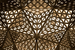 Triangular Confusion (florencechan.ca) Tags: cotai macau abstract architectural hotel light tetrahedron triangles morpheushotel