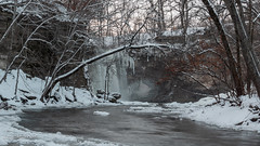 Minneopa Falls State Park (Lzzy Anderson) Tags: minneopafalls minneopafallsstatepark statepark minnesota minnesotastatepark river water longexposure flowingwater woods forest sunset december 2018 waterfall falls