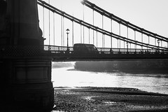 Sunny day (Toftus Photography) Tags: cityscape canon eos 5d mark iv bw blackandwhite sorthvit sh monochrome water vann vand elv river winter vinter season