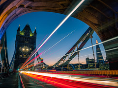 Tower bridge at sunset - London, England - Travel photography (Giuseppe Milo (www.pixael.com)) Tags: photo england sunset unitedkingdom city light longexposure urban london travel tower photography touristic sky trails bridge europe geotagged landscape gb onsale portfolio