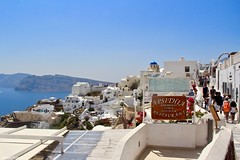 Oia, Santorini, Greece. (Chanel Debono) Tags: santoini thera thira volcano caldera volcanic greece greekisland greekislands greek island islands cyclades aegean aegeansea hills cliffs sea beach beaches sand summer blue ferries hellenic hellenicseaways ferry trees cactus flower flowers hotel boats ships quadbike atv quads quadbikes bike windmill windmills maintown town holiday travel travelling lovegreece visitgreece greecetrip islandhopping discovergreece travelphotography canon canon600d canonphotography chaneldebono church churches traveler wanderlust travellingtheworld photography nature bluesky europe oia bluedomes dome bluedome santorinidomes threebluedomes oiasantorini