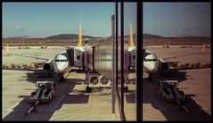 Sabiha Gökçen (cim21) Tags: air airport reflection istanbul turkey mirror lightshadow airplane sky flight glass perspective fan wings pictureoftheday yourpersonalpictureoftheday