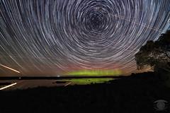 Aurora and Star Trails (Dark Arts Astrophotography) Tags: astrophotography astronomy space sky stars star science aurora auroraborealis nothernlights trails longexposure