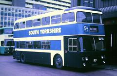 Slide 125-28 (Steve Guess) Tags: west yorkshire england gb uk bus southyorkshire leyland atlantean hwr690j ncme northern counties
