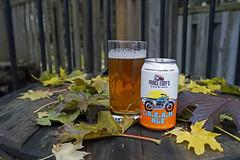 This weekend's featured beer (Stickwork-Steve) Tags: sony sonya7ii sonyfe24240mm beer beercan beerglass canadianbeer princeeddysbrewingcompany creamale leaves mapleleaf picton
